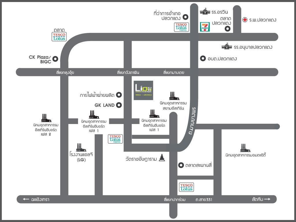 แผนที่ Lio NOV ระยอง - ปลวกแดง