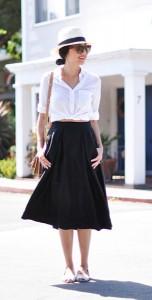 เสื้อเชิ้ต-สีขาว-Everlane-กระโปรง-Milly-กระเป๋า-Marni-รองเท้า-Saint-Libertine-หมวก-Cuyana-แว่นตากันแดด-Celine