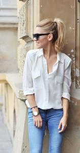 เสื้อเชิ้ต-สีขาว-Zara-กางเกงยีนส์-Mango-กระเป๋า-Kazar-รองเท้า-Kazar-แว่นตากันแดด-Asos