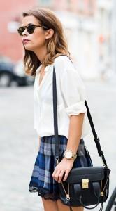 เสื้อเชิ้ตขาว-Mango-กระโปรงลายสก๊อตสีน้ำเงิน-Paula-Boutique-รองเท้า-Zara-กระเป๋า-3.1-Phillip-Lim-สร้อยคอ-Brandy-Melville