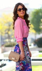 เสื้อเชิ้ตสีชมพู-HM-กระโปรงลายดอกไม้-Bebe-รองเท้า-Saint-Laurent-กระเป๋า-Jimmy-Choo-แว่นตากันแดด-Carrera