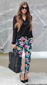 กางเกงลายดอกไม้-Ebay-เสื้อสีดำ-HM-รองเท้า-Bianco-กระเป๋า-Hallhuber-แว่นตากันแดด-Ebay-แหวน-Primark
