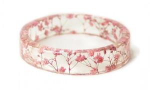 กำลไลเรซินดอกไม้สีชมพู