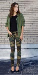 กางเกงลายทหาร-แจ็คเก็ตสีเขียวทหาร-เสื้อยืดสีดำ-TEXTILE-Elizabeth-and-James-Fall-2012