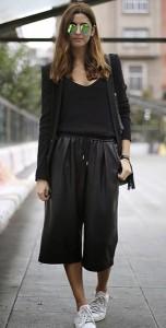 กางเกง-Culottes-สีดำ-Zara-เสื้อสูทสีดำ-Zara-เสื้อสีดำ-Mango-รองเท้า-Adidas-กระเป๋า-Gucci-แว่นตากันแดด-Ray-Ban