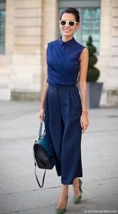 กางเกง-Culottes-สีน้ำเงิน-เสื้อแขนกุดสีน้ำเงิน