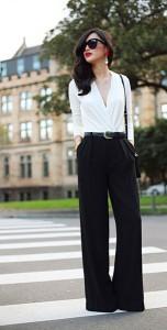 แฟชั่นขาวดำ-เสื้อ-Asos-กางเกง-Zara-รองเท้าส้นสูง-Christian-Louboutinเข็มขัด-Vintage-แว่นตากันแดด-Celine-กระเป๋า-Celine