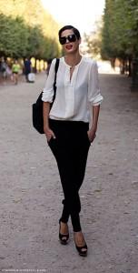 แฟชั่นขาวดำ-Street-Style-Hanaa-Ben-Abdesslem