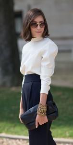แฟชั่นขาวดำ-Street-Style-Paris-Fashion-Week-Spring-Summer-2014