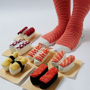 ถุงเท้าซูชิหน้าต่างๆ
