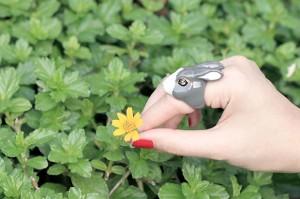 แหวนรูปกระต่าย-สีเทา
