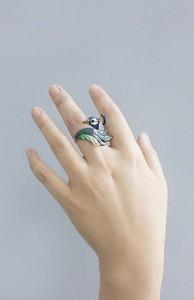 แหวนรูปนกยูง