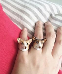 แหวนรูปหมาคอร์กี้