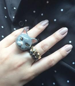 แหวนรูปแมว-สีเทา