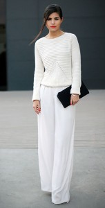 สเว็ตเตอร์สีขาว-Choies-กางเกงสีขาว-Zara-กระเป๋าคลัทช์-3.1-Phillip-Lim