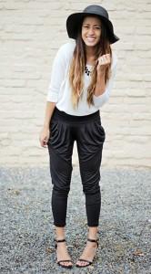 กางเกง-Harem-สีดำ-toADORN-เสื้อสีขาว-Forever-21-หมวก-Cotton-On-รองเท้า-Go-Jane